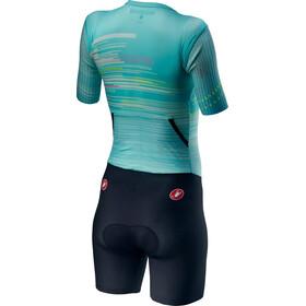 Castelli PR Speed Suit Dames, turquoise/zwart